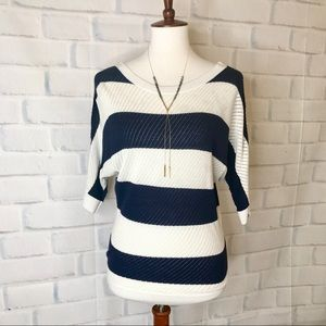 E X P R E S S : Mesh Knit Dolman Sleeve Sweater